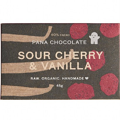 Sour Cherry and Vanilla Organic Chocolate Bar