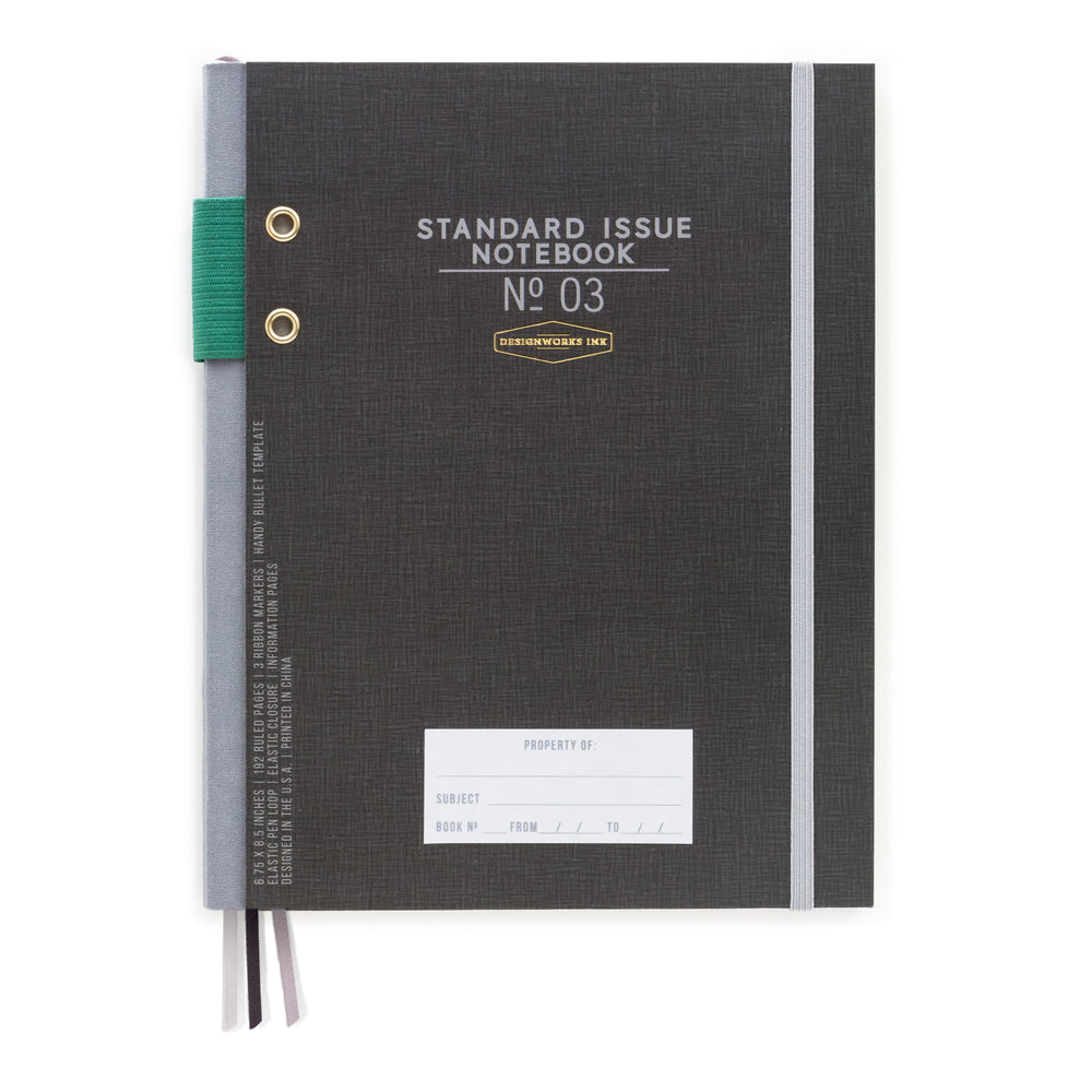 Standard Issue No. 03 Notebook - Black