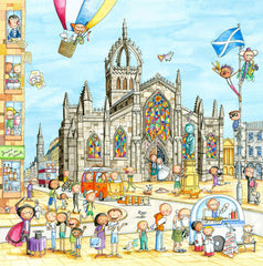 St Giles Cathedral Gingerpaws Square Card