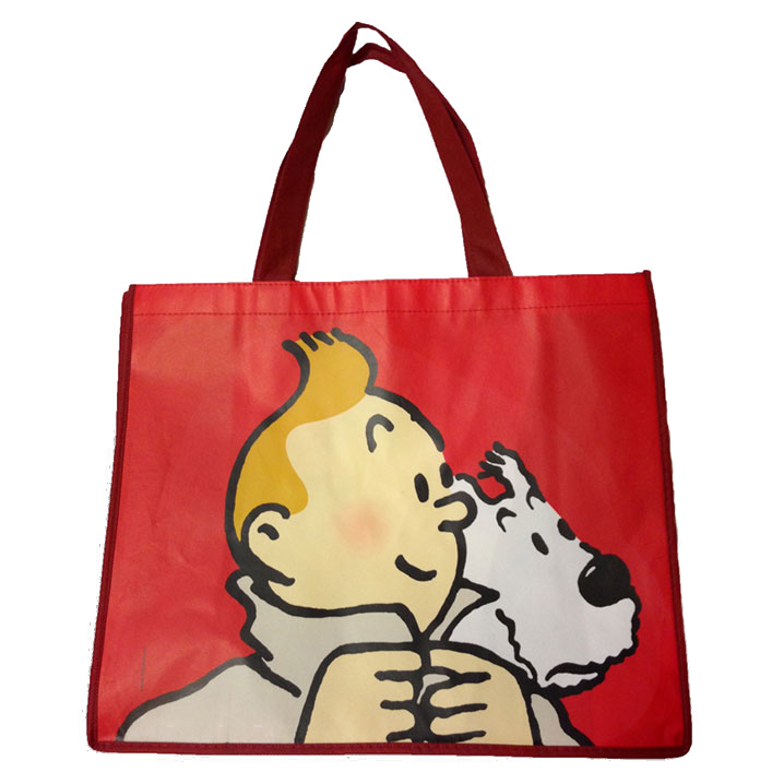 Tintin & Snowy Large Red Shopper