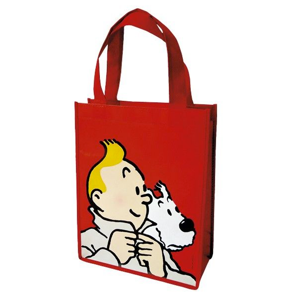 Tintin & Snowy Small Red Shopper