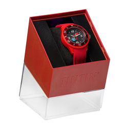 Tintin Watch - Destination Moon Rocket - Red