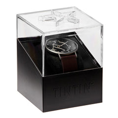 Tintin Watch - Tintin in Anthracite and Brown