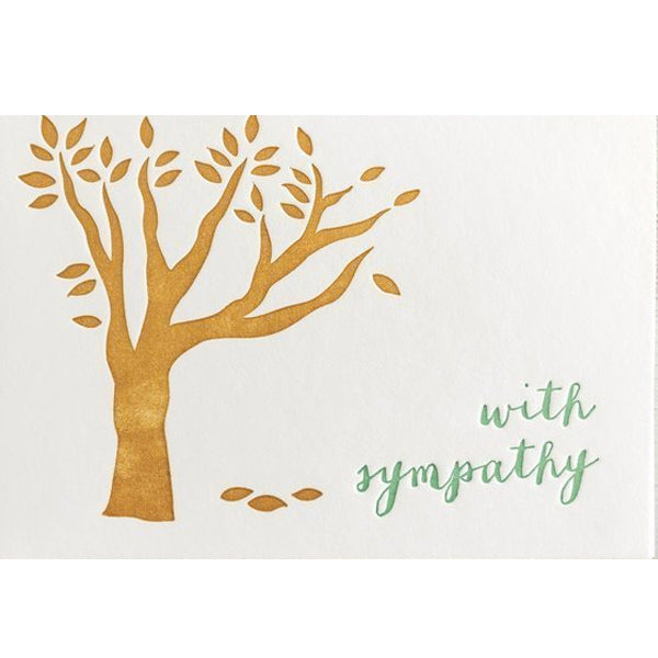 With Sympathy Letterpress Card