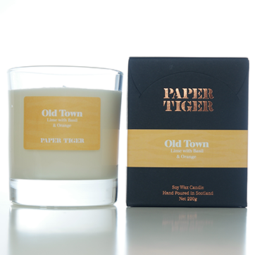 paper tiger candle