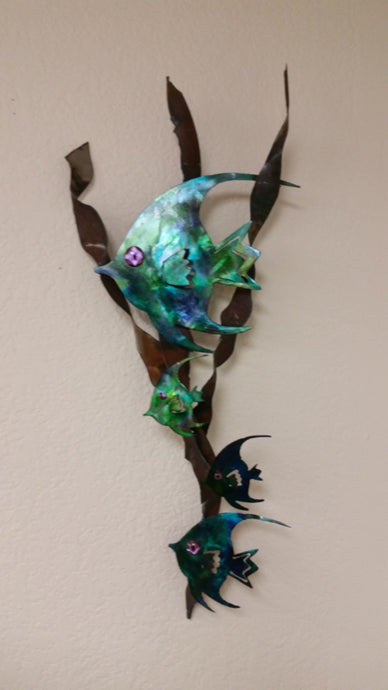 Metal Wall Art: Fish on Kelp by Kristen Hoard ($150)