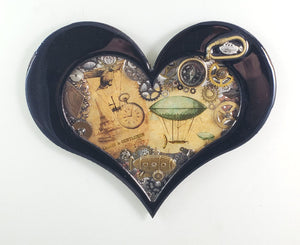 "Steampunk Heart - Flying Machines ($125) 10"" x 8"""