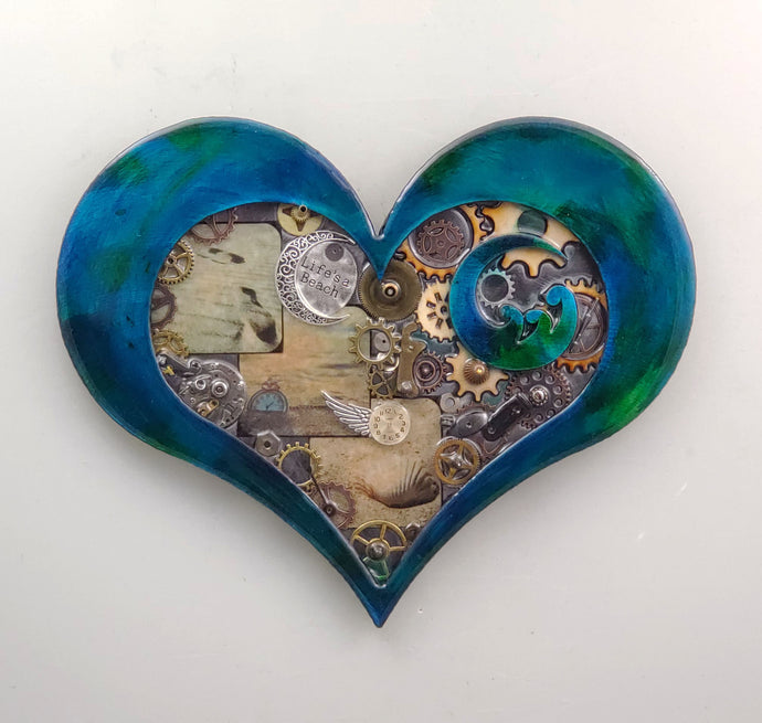 Steampunk Heart: Beach Theme Blue ($125) 10
