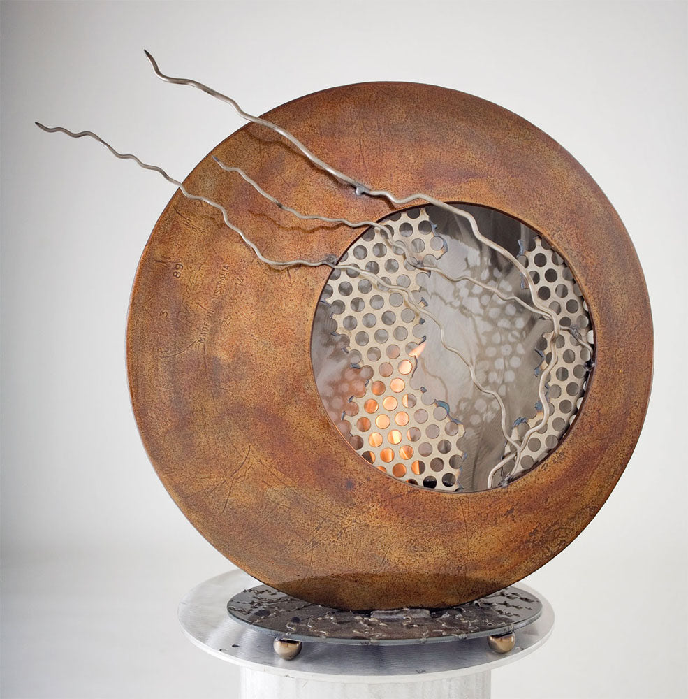 Metal Sculpture Firepit: Evolution by Kristen Hoard ($600)