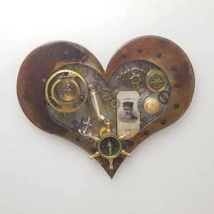 "Steampunk Heart: Nautical ($125) 10"" x 8"""