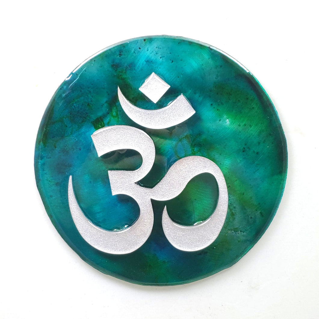 Metal Wall Art:  OM - Blue-green ($65) 7.5