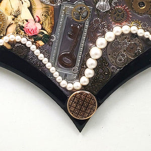 "Steampunk Heart: Boudoir Black ($125) 10"" x 8"""