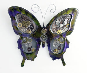 "Metal Wall Decor: Steampunk Butterfly ($125) 12"" x 12"""