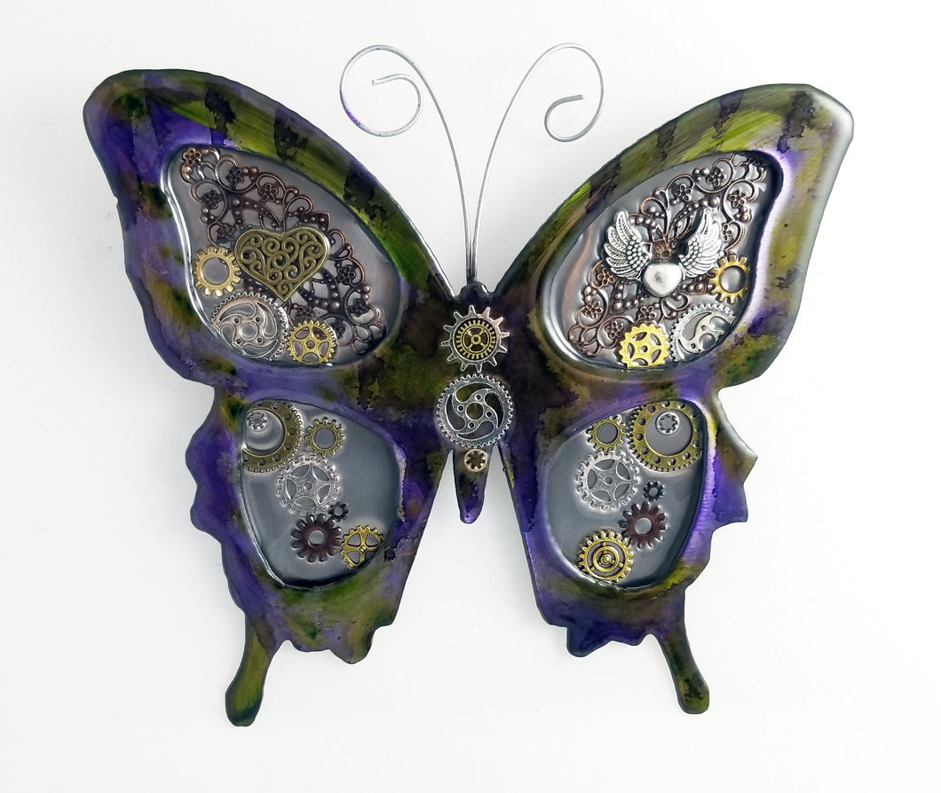 Metal Wall Decor: Steampunk Butterfly ($125) 12