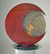 Metal Sculpture Firepit: Crimson Moon by Kristen Hoard ($600) SOLD