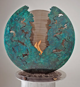 Metal Sculpture Firepit: Flamer Firepit by Kristen Hoard ($600)