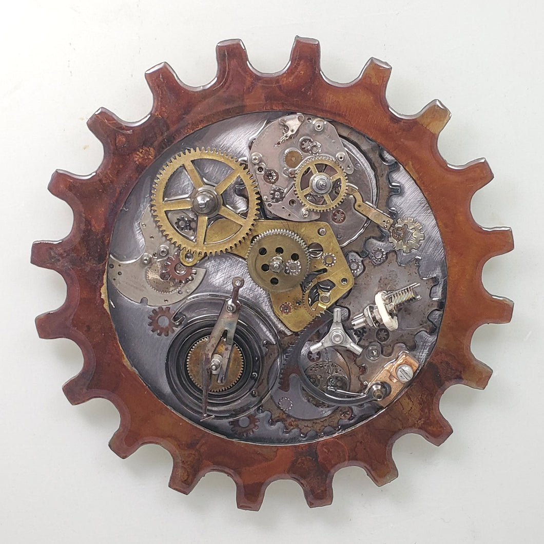Steampunk Gear 6 Patina ($125) 10