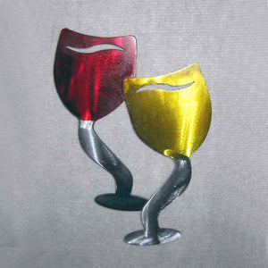 Metal Art Gift: Funky Wine Glass by Kristen Hoard ($49)
