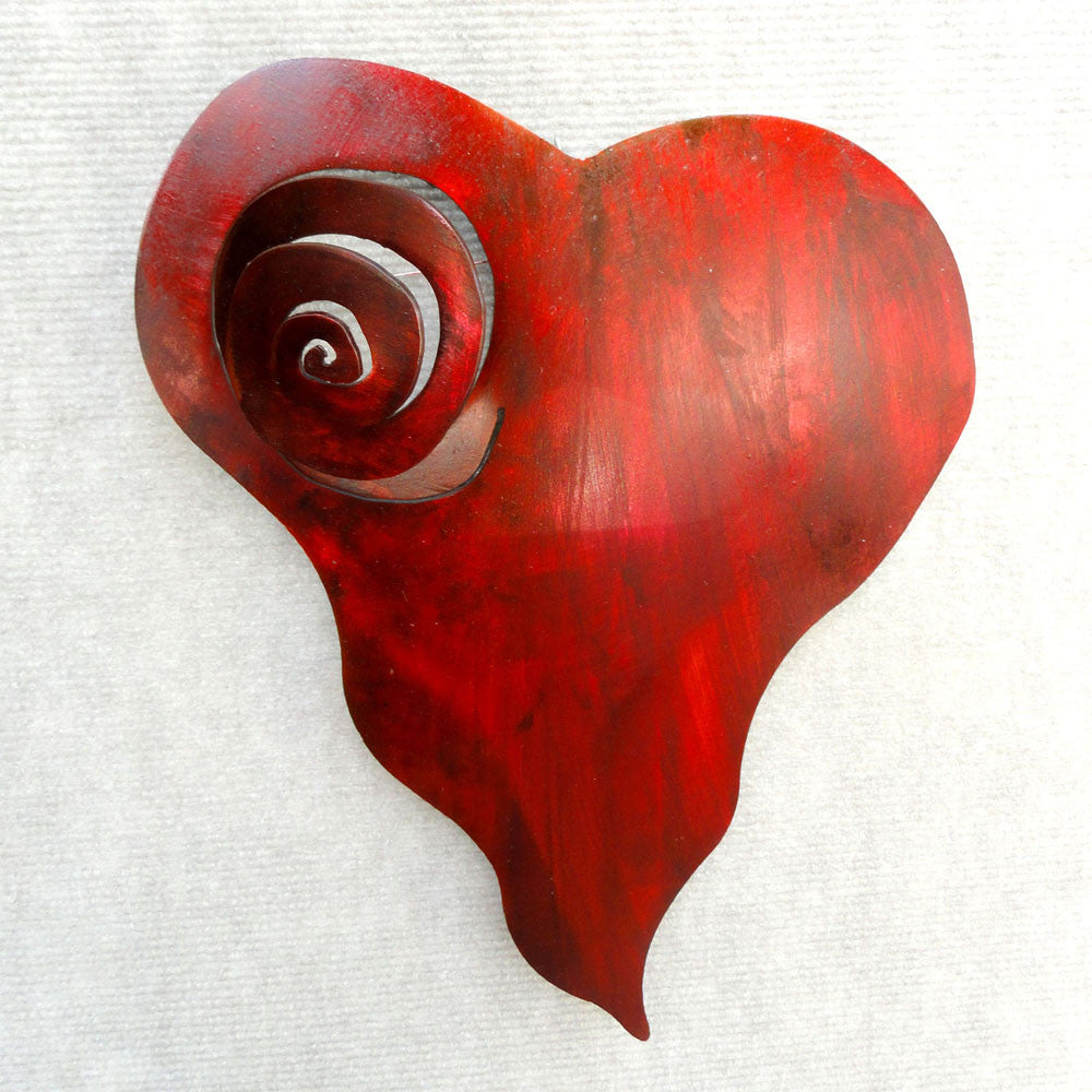 Metal Wall Art:  Heart Art - Spiral Heart