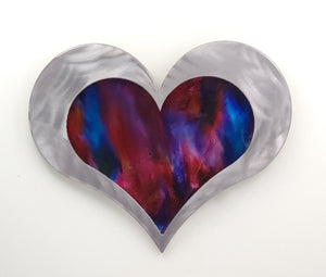 "12"" Resin Heart Blues/Pinks ($150)"