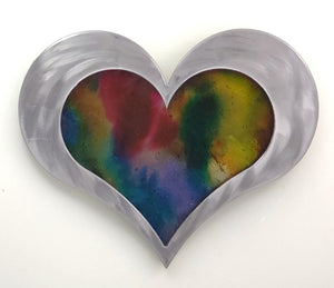 "12"" Resin Heart Watercolor ($150)"
