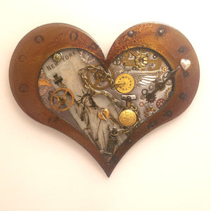 "Steampunk Heart: New York State of Mind ($125) 10"" x 8"""