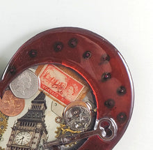 "Steampunk Heart: London Calling Red ($125) 10"" x 8"" SOLD Order a custom one!"