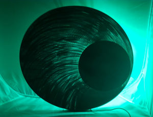 "LED Art: Moon Beam by Kristen Hoard ($600) 23"" Diameter"