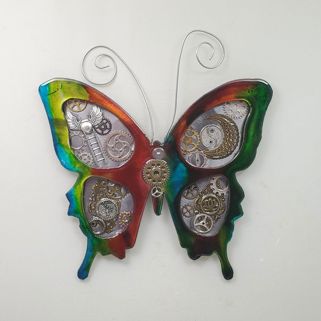 Metal Wall Decor: Steampunk Butterfly Multi-spiritual ($125) 12