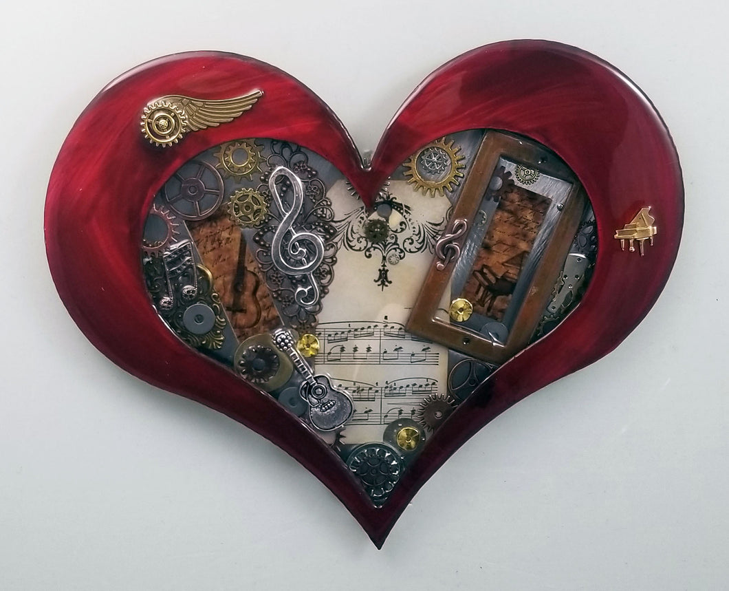 Steampunk Heart: Music Red ($125) 10