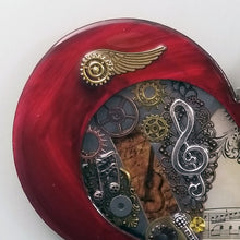 "Steampunk Heart: Music Red ($125) 10"" x 8"""