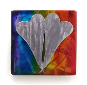 Metal Wall Art: Love is Love by Kristen Hoard ($125)