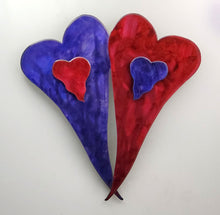 "Metal Art Gift: ""Love Is"" Double Heart by Kristen Hoard ($150)"