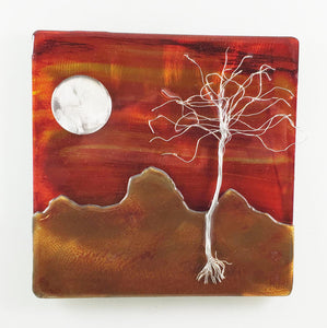 Metal Wall Art: Canyon Sunset by Kristen Hoard ($125)