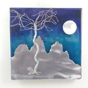Metal Wall Art: Beach Landscape by Kristen Hoard ($125)