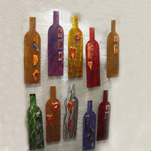 Metal Art Gift: Wine Bottle by Kristen Hoard ($49)
