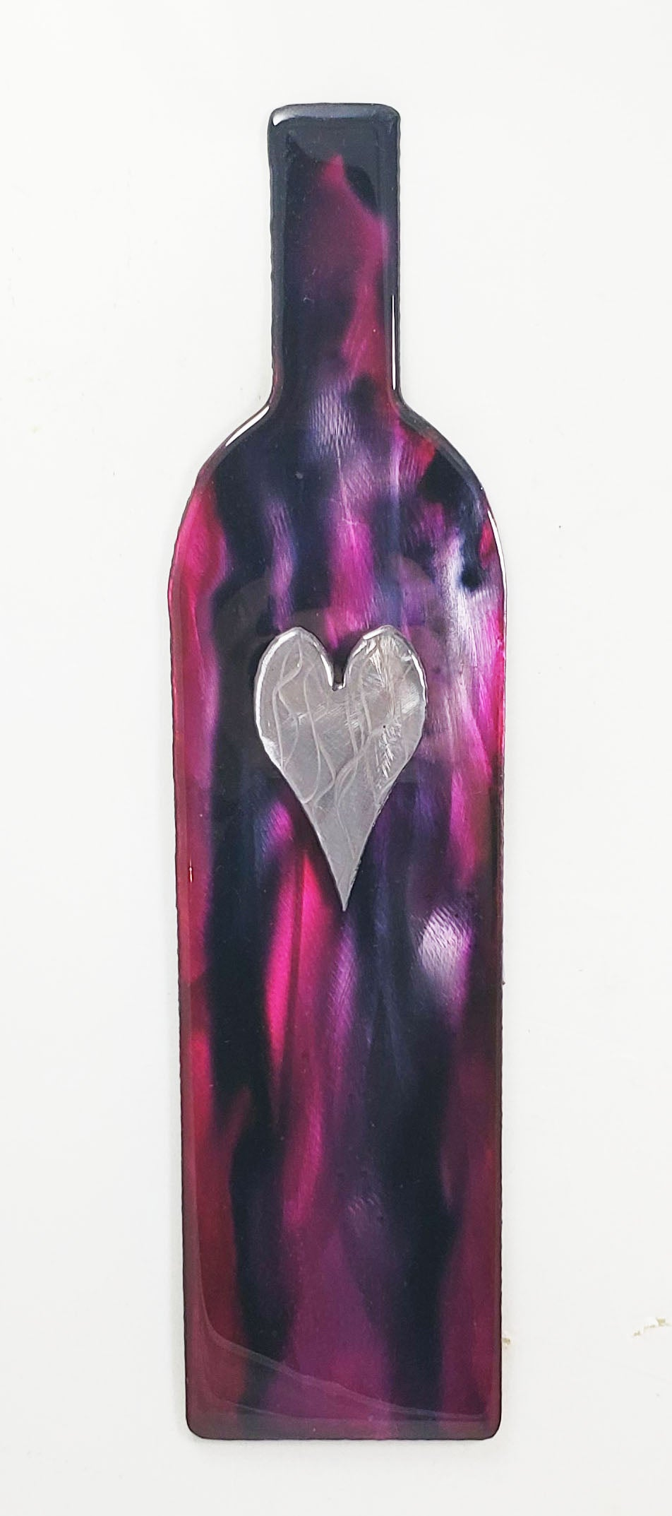Wine Bottle Art (purple) - $65