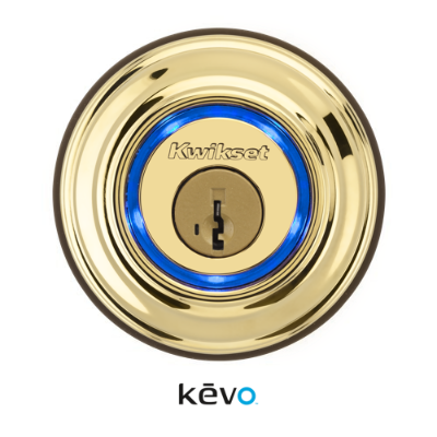 Kevo Smart Lock Deadbolt - Polished Brass
