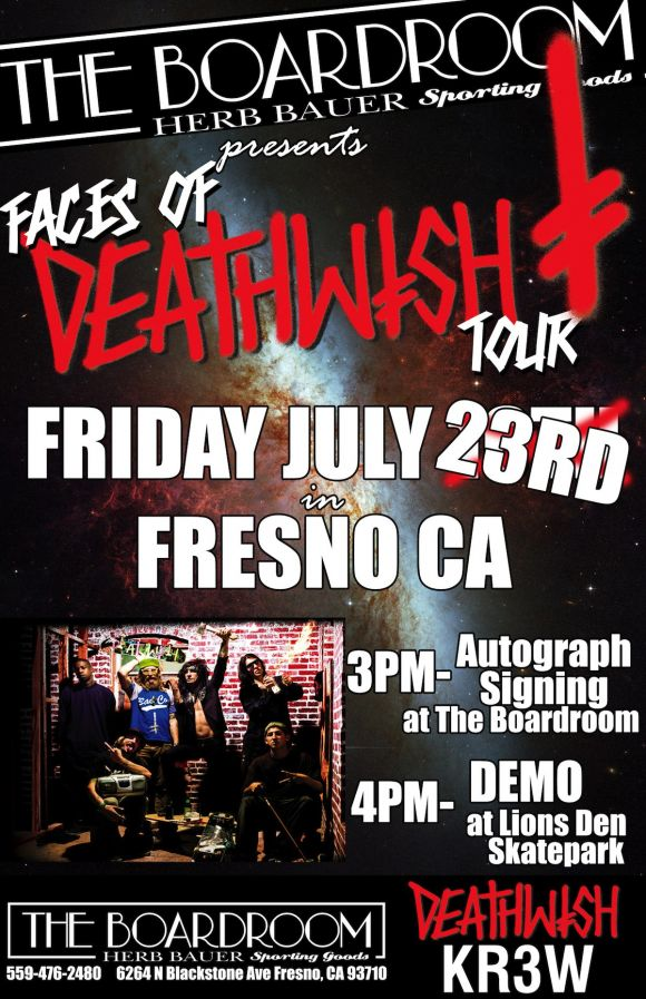 The BoardRoom Faces of Deathwish tour 2010