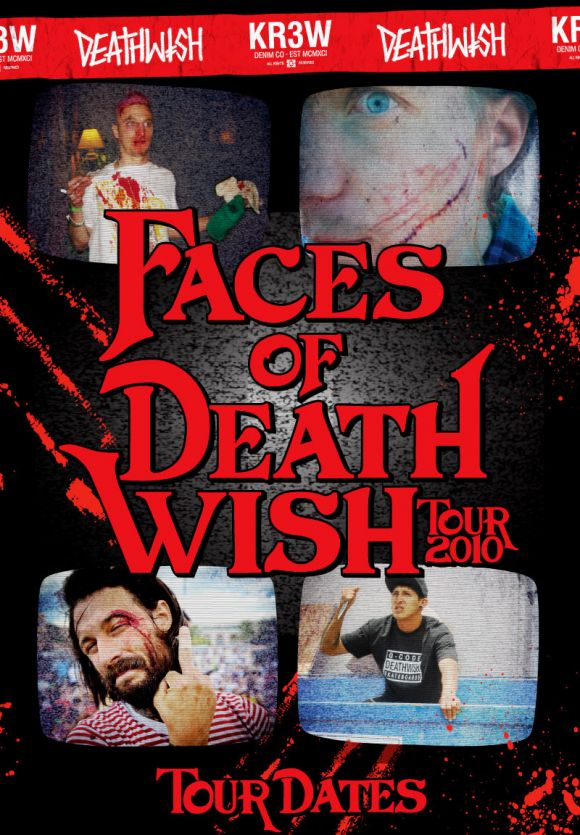 Faces of Deathwish top half tour poster