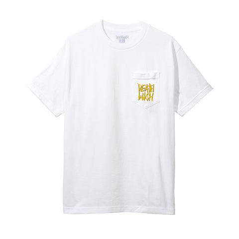 THE TRUTH POCKET TEE WHITE/GOLD