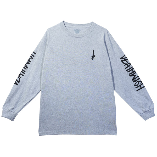 LANDMARK LONG SLEEVE ATHLETIC HEATHER/ BLACK