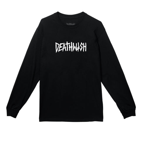 DEATH TAG LONG SLEEVE BLACK/WHITE