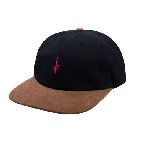 GANG LOGO SNAP BACK BLACK/SUEDE