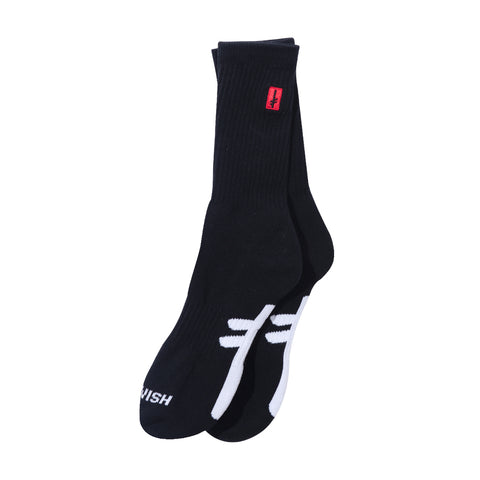 GANG LOGO SOCKS BLACK