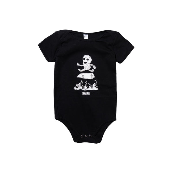 BABY MAYHEM ONESIE BLACK