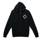 Arch Sphere Zip Up Hoodie Black