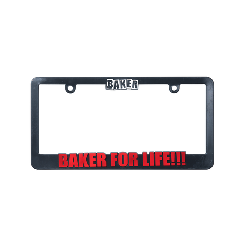 Baker For Life License Plate Cover