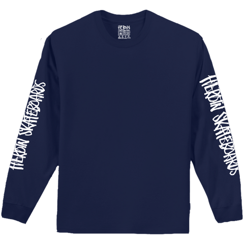 Script Long Sleeve Navy