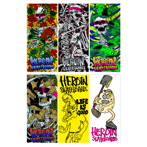 HEROIN HO17 STICKERS